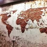 Mapa en la pared