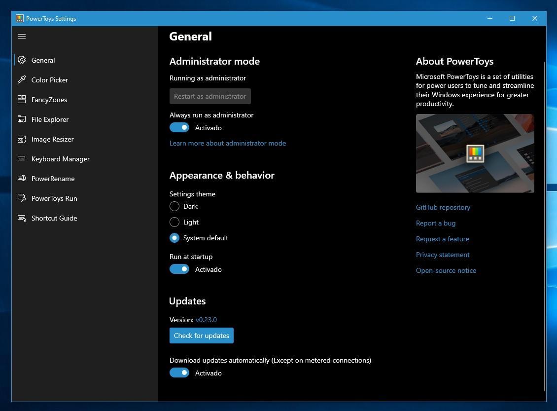 Los PowerToys de Windows 10