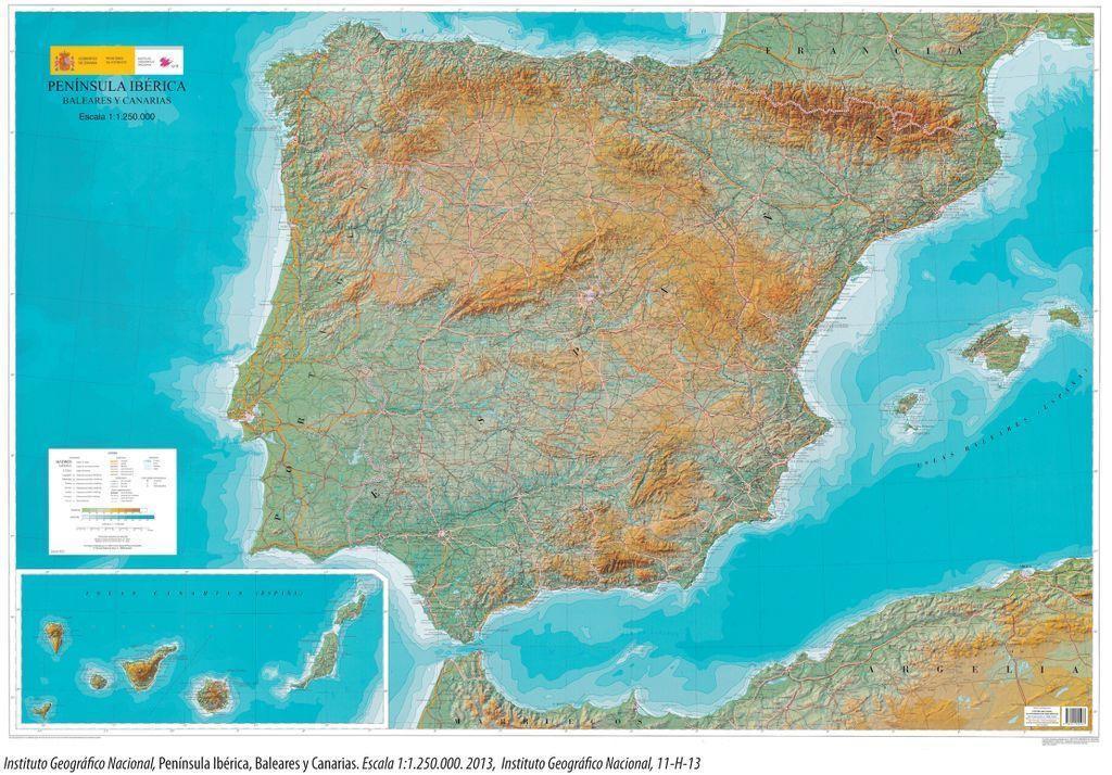 El relieve de la península Ibérica como condicionante climático